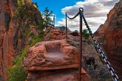 Angel Landing Trail en Zion National Park, Utah Foto de archivo