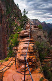 Angel Landing Trail in Zion National Park,Utah Stock Photography