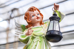 angel with lantern Stock Photography