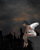 Angel On A Ledge Royalty Free Stock Photo