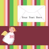Angel with a letter Royalty Free Stock Image