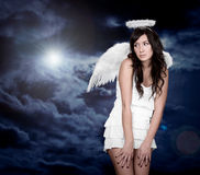 Angel and light of god Stock Photography