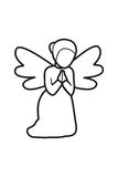 Angel Line no fundo branco ilustração do vetor