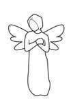 Angel Line no fundo branco ilustração royalty free