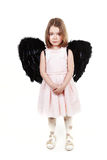 Angel little girl crying Royalty Free Stock Image