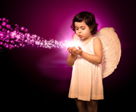 Angel little girl Royalty Free Stock Photography