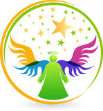 Angel logo Royalty Free Stock Photo