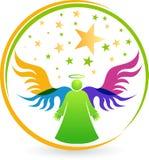 Angel logo. Illustration art of a angel logo with isolated background Royalty Free Stock Photo