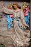 Angel of the Lord visited the shepherds and informed them of Jesus` birth stock images