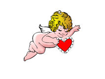 Angel Love. Enjoy and happy valentine's day every one Royalty Free Stock Photo