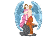 Angel in love Stock Images