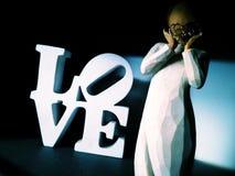 Angel of love stock image