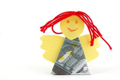 Angel made of money Royalty Free Stock Image