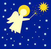 Angel with magic wand Royalty Free Stock Photo