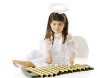 Angel Making Melody Royalty Free Stock Photography