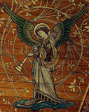 Angel making music  (painting) Royalty Free Stock Photos