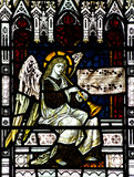 Angel making music in stained glass Royalty Free Stock Photography