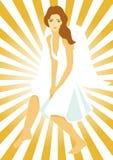 Angel with manga eyes Royalty Free Stock Images