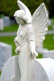 Angel Marble Headstone tallado fotografía de archivo