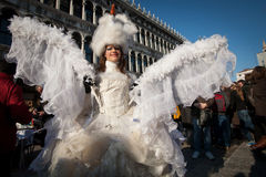 Angel mask. In venice during carnival Royalty Free Stock Photography