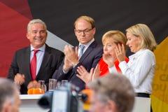 Angel Merkel i valstriden 2017 i Heidelberg Royaltyfria Foton