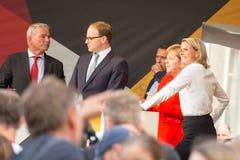 Angel Merkel i valstriden 2017 i Heidelberg Arkivbild