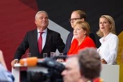 Angel Merkel i valstriden 2017 i Heidelberg Royaltyfri Foto