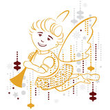 Angel, merry christmas Stock Photography
