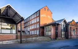Angel Mill regeneration project in Westbury, Wiltshire, UK. On 17 January 2019 stock photos