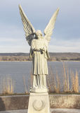 Angel and Mississippi River Stock Image