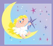 Angel and month Royalty Free Stock Images