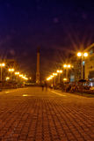 Angel monument Night Lenin Square Stock Photography