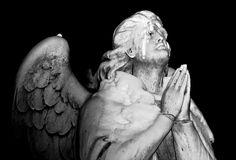 Angel of Moscow. Moscow Angel in famous Moscow Cemetery Royalty Free Stock Image