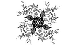 Flying dragon royalty free illustration