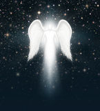 Angel in the Night Sky Stock Photo