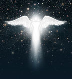 Angel in the Night Sky Royalty Free Stock Images
