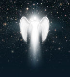 Angel in the Night Sky Stock Photos