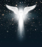 Angel in the Night Sky Stock Image
