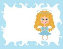 Angel with nimbus. Royalty Free Stock Photos