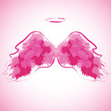 Angel nimbus and wings. Angel nimbus and wings on colorful background. Vector illustration Stock Images