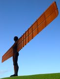 Angel of the North. Giant steel sculpture commemorating the steelmaking, engineering and shipbuilding heritage of the North East of England royalty free stock image