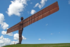 Angel of the North against a blue sky. Stock Images