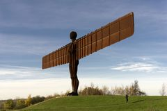 Angel of the North in Autumn Stock Images