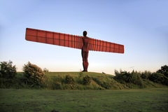 Angel of the North and Field Royalty Free Stock Photo