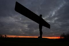 Angel of the North - sunset Stock Photo