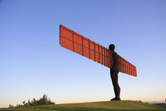 Angel of the North and Grass. Antony Gormley's Angel of the North commissioned by Gateshead Council, and funded by the National Lottery. England, United Kingdom Stock Photos