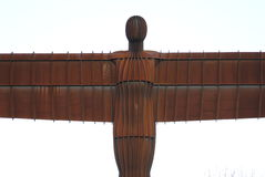Angel of the North. Head-on image of the body of the Angel of the North Stock Photos
