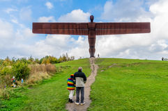 Angel of the North sculpture by Antony Gormley Stock Image