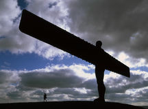 Angel of the North in silhouett royalty free stock photo