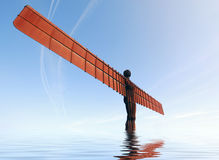Angel of the North statue Royalty Free Stock Photography